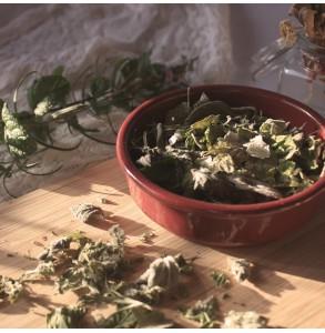 Tisane Bon matin : Menthe, romarin et framboisier bio