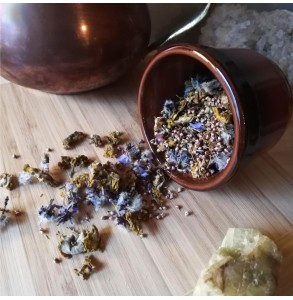Tisane Chaleureuse : Thym, bruyère, bourrache et bouillon blanc bio