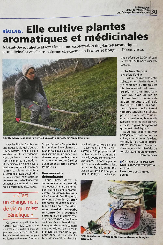 parution le Républicain Sud-Gironde