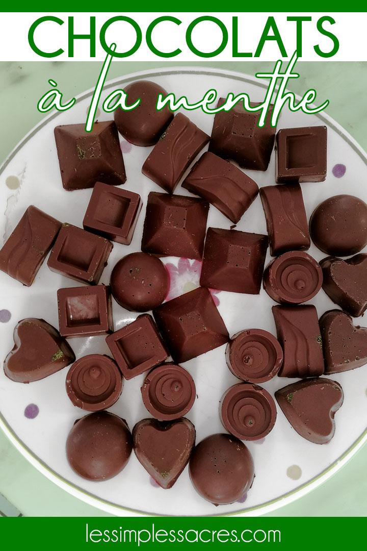 Recette chocolats à la menthe